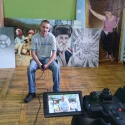 Wystawa malarstwa i rysunku autorstwa Sławomira Kapronia - Konfrontacje