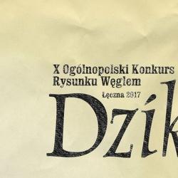 X Ogólnopolski Konkurs Rysunku Węglem pt. Dzik